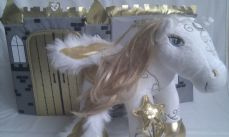 Adorable Big Rare Musical 'Enchanted Cute Horse & Castle' Build-a-Bear Plush